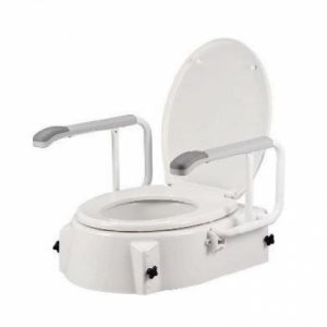 Raised Toilet Seat With Swing Back Arms