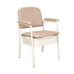KCare Deluxe Bedside Commode chair, Champagne