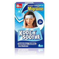 Kool n Soothe Migraine and Headache Cooling Soft Gel sheets 6 pack