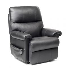 Borg - Leather Dual Motor Riser Recliner