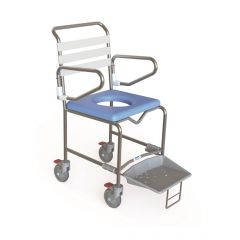 KCare Transit Shower Commode - Slide out foot tray
