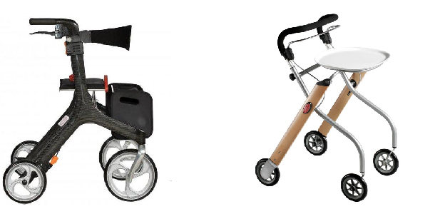 outdoor rollator and indoor rollator