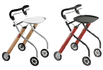 trustcare indoor rollator beech and red colour